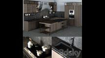 مدل سه بعدی آشپزخانه Frame Snaidero Kitchen Furniture