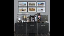 مدل سه بعدی ست میز سرو قهوه Franke Foammaster 850