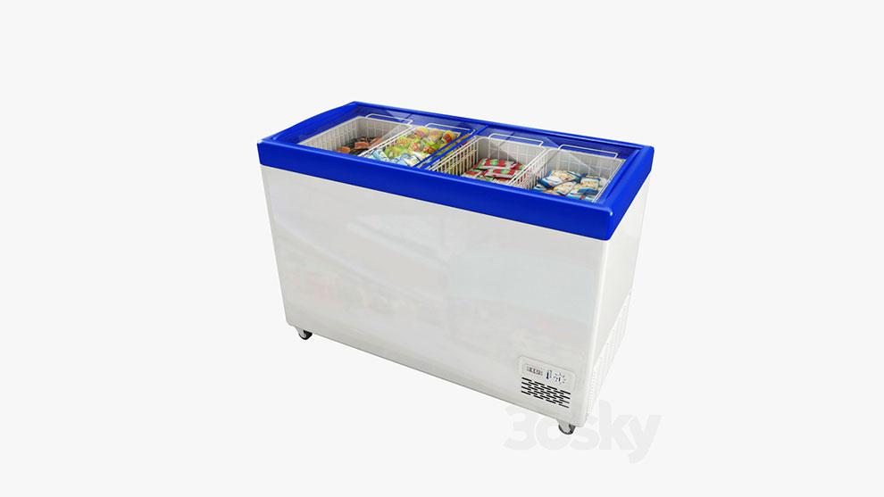 مدل سه بعدی فریزر مواد غذایی Freezer Polair Standard