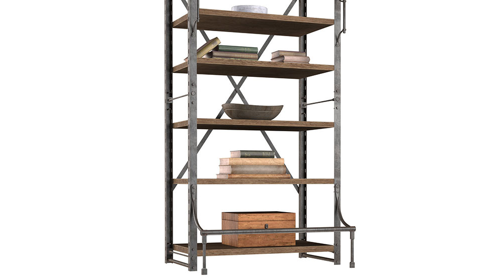 مدل سه بعدی قفسه کتاب به سبک فرانسوی French Library Rack