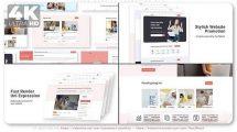 پروژه افترافکت تیزر تبلیغاتی وبسایت Fresh Website Promotion