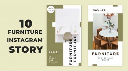 پروژه افترافکت استوری اینستاگرام مبلمان Furniture Instagram Story