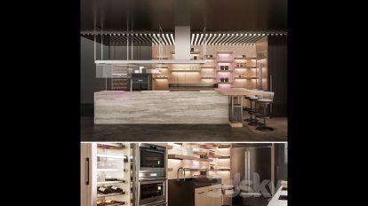 مدل سه بعدی آشپزخانه Giogetti Kitchen