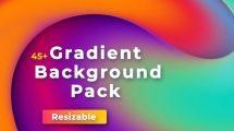 پروژه افترافکت مجموعه زمینه متحرک با گرادینت Gradient Backgrounds Pack