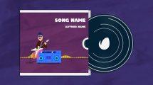 پروژه افترافکت ویژوالایزر موزیک Guitar Player Music Visualizer