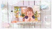 پروژه افترافکت اسلایدشو عکس تولد Happy Birthday Kids Photos