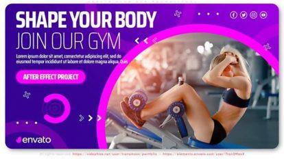 پروژه افترافکت تیزر تبلیغاتی باشگاه ورزشی Health Club Gym Promotional