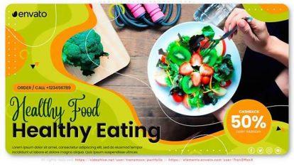 پروژه افترافکت تیزر تبلیغاتی رستوران Health Food Restaurant Promotional