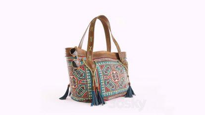 مدل سه بعدی کیف با استایل هیپی Hippie Bag