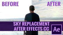 آموزش تعویض زمینه آسمان در افترافکت Sky Replacement Compositing