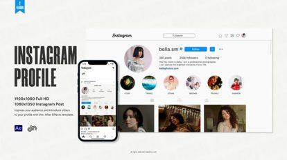پروژه افترافکت تیزر تبلیغاتی پروفایل اینستاگرام Instagram Profile