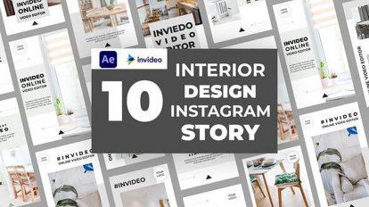 پروژه افترافکت استوری اینستاگرام طراحی داخلی Interior Design Instagram Story