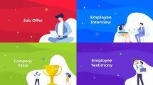 پروژه افترافکت معرفی کسب و کار HR Job Company Resource