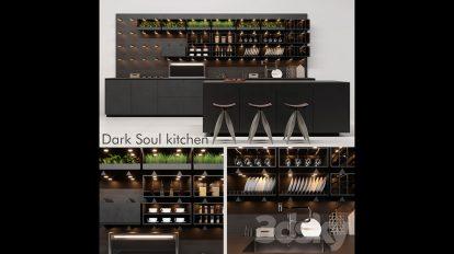 مدل سه بعدی آشپزخانه Kitchen Dark Soul