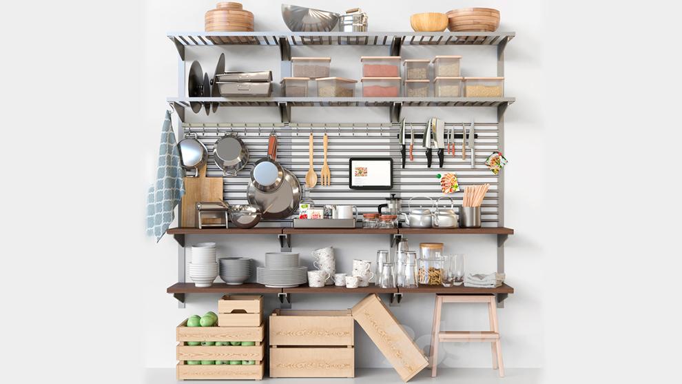 مجموعه مدل سه بعدی دکور آشپزخانه Set-369