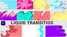 پروژه پریمیر مجموعه ترانزیشن با افکت مایع Liquid Transition