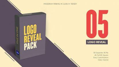 پروژه افترافکت مجموعه نمایش لوگو مینیمال Minimal Logo Reveal Pack