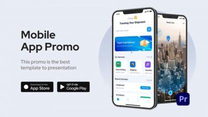 پروژه پریمیر تیزر تبلیغاتی اپلیکیشن Mobile App Promo