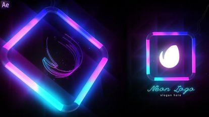 پروژه افترافکت نمایش لوگو نئونی Neon Logo Reveal