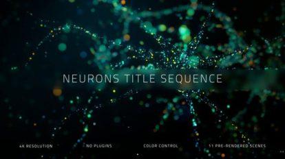 پروژه افترافکت نمایش عناوین نورونی Neurons Title Sequence