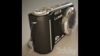 مدل سه بعدی دوربین عکاسی پاناسونیک Panasonic DMC-TZ7