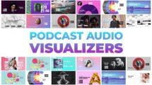 پروژه افترافکت مجموعه ویژوالایزر Podcast Audio Visualizers