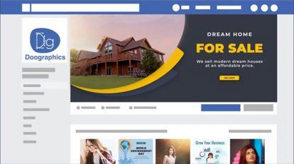 پروژه افترافکت کاور فیسبوک مشاور املاک Real Estate Facebook Cover