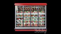 مدل سه بعدی یخچال مواد پروتئینی Refrigerated Showcase Bonnetneve Proxima