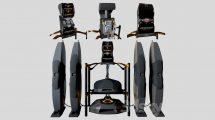 مدل سه بعدی سیستم اسپیکر Speaker System MoM RX-100