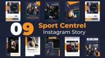 پروژه افترافکت مجموعه استوری اینستاگرام ورزشی Sport Centre Instagram Story Pack