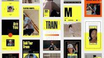 پروژه افترافکت مجموعه استوری ورزشی Sport Promo Stories