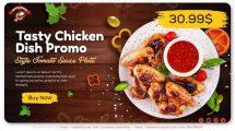 پروژه افترافکت تیزر تبلیغاتی غذا Tasty Chicken Dish Promo