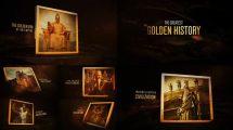 پروژه افترافکت نمایش عکس تاریخی The Golden History