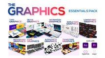 پروژه افترافکت مجموعه اجزای گرافیکی برای ویدیو The Graphics Essentials Pack