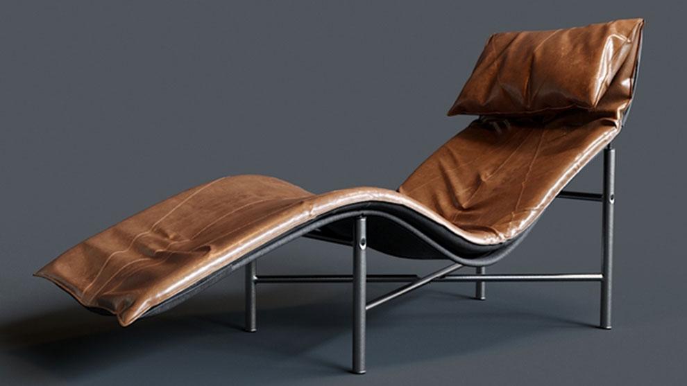 مدل سه بعدی صندلی راحتی Tord Bjorklund Skye lounge chair for Ikea