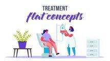 پروژه افترافکت پرزنتیشن پزشکی Treatment Flat Concept