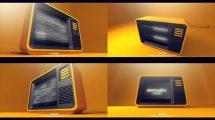 پروژه افترافکت نمایش لوگو با تلویزیون TV Show Opener