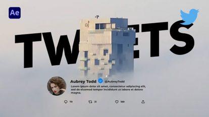 پروژه افترافکت نمایش توییت Tweets