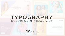 پروژه افترافکت اسلایدشو تایپوگرافی Typography Slide Colorful Minimal
