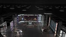 مدل سه بعدی استودیو خبری مجازی Virtual TV Studio News Set 6