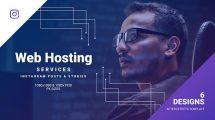 پروژه افترافکت تیزر تبلیغاتی خدمات وب Web Hosting Services
