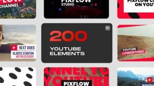 پروژه پریمیر اجزای ویدیوی یوتیوب Youtube Elements for Premiere Pro