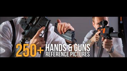 مجموعه تصاویر مرجع اسلحه در دست Hands Guns Reference Pictures