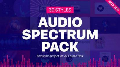 پروژه افترافکت مجموعه ویژوالایزر موزیک Audio Spectrum Pack