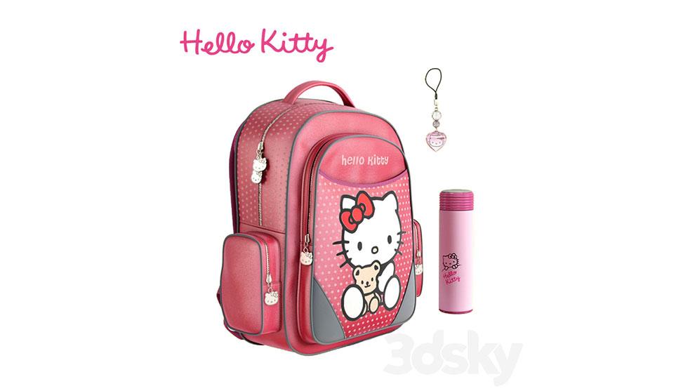 مدل سه بعدی کوله پشتی کودک Backpack Hello Kitty