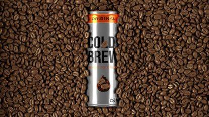 پروژه افترافکت موکاپ قوطی قهوه سرد Cold Coffee Can Packaging