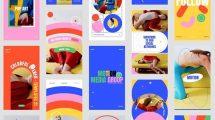 پروژه افترافکت مجموعه استوری اینستاگرام رنگارنگ Colorful Stories Pack