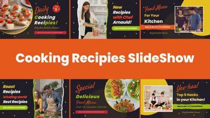 پروژه افترافکت اسلایدشو دستور غذا Cooking Recipes Food Slideshow