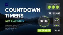 پروژه افترافکت مجموعه موشن ساعت شمار Countdown Timers