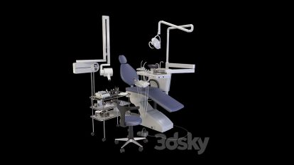 مدل سه بعدی صندلی دندانپزشکی Dental Chair Set